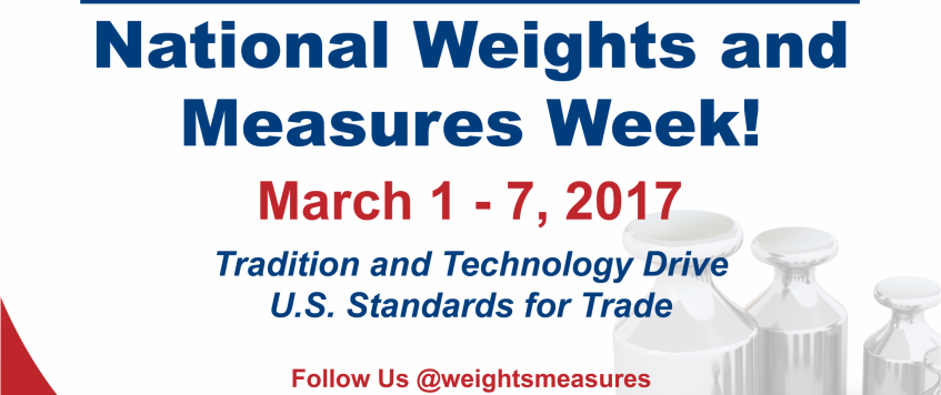 National Weights and Measures Week!